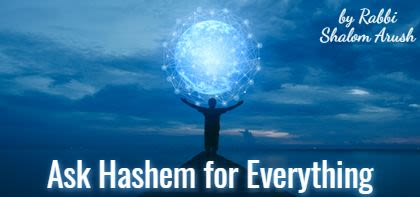 Ask Hashem for Everything