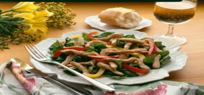 Peppers and Turkey Stir-Fry