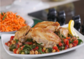 Braised Chicken with Stewed Chickpeas