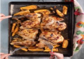 Hawaiian Sheet Pan Chicken