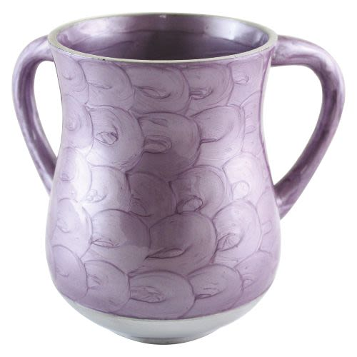 Elegant Washing Cup in Purple Tones