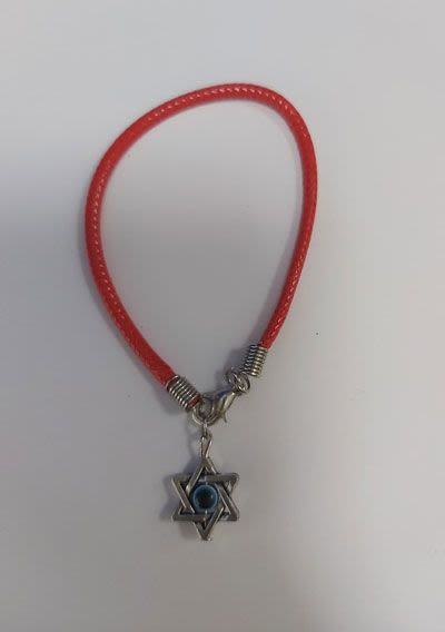 Red Bracelet with Star of David and Eye Against Evil Eye