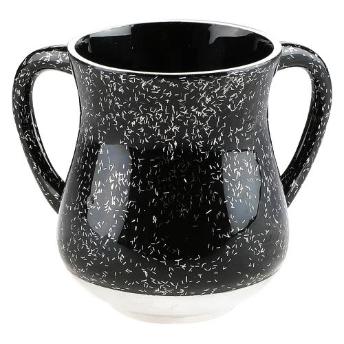 Aluminum Hand Washing Cup - Black Tones with Sparkles