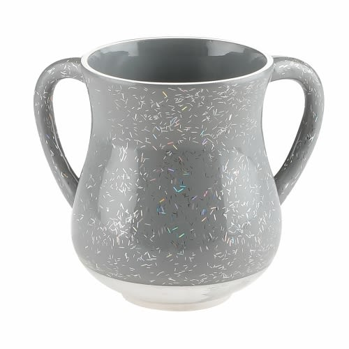 Aluminum Hand Washing Cup - Gray Tones with Sparkles