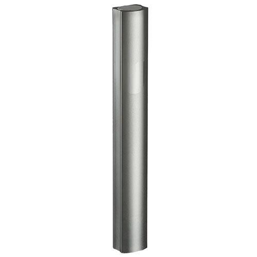 Aluminum Mezuzah - Dark Silver Tones