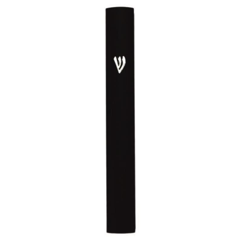 Black Aluminum Mezuzah