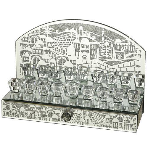 Зеркальный ханукальный светильник с  ящичком