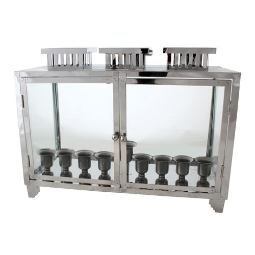 Nickel Housing for the Chanukah Menorah