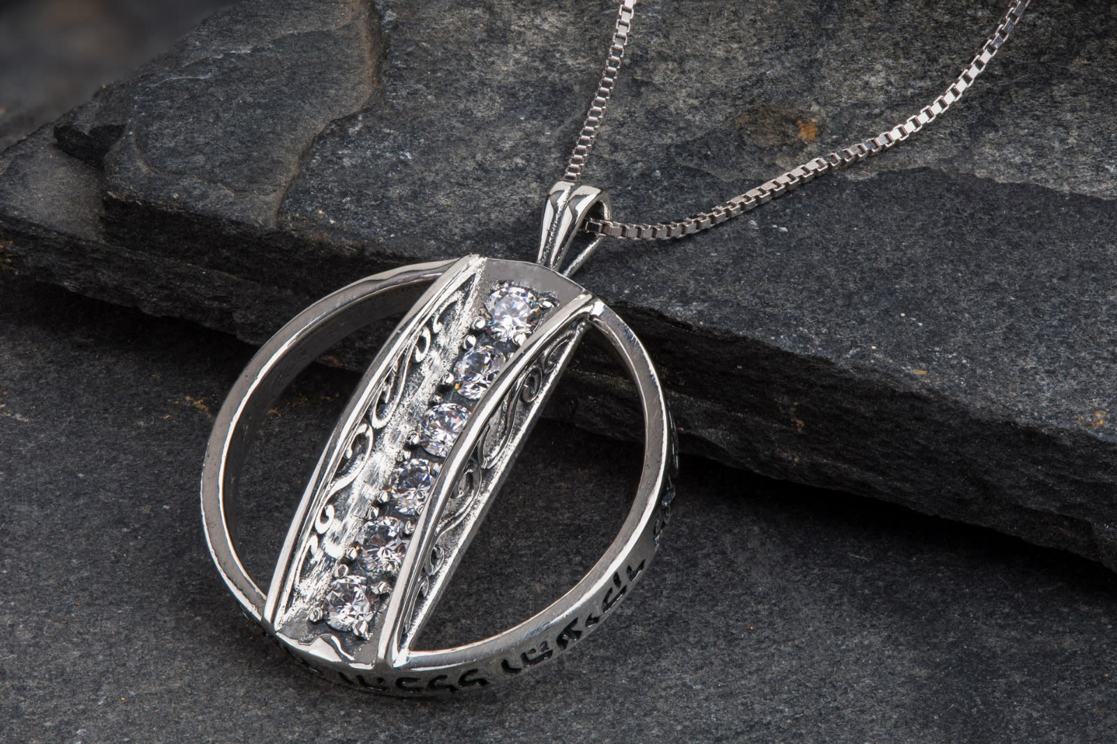 "Pendant necklace ""The whole world is a narrow bridge"" - pure silver"
