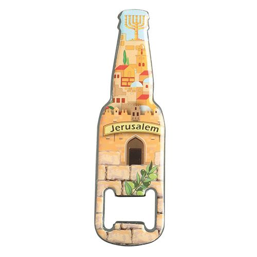 "bottle opener - Magnetic- ""Jerusalem"""