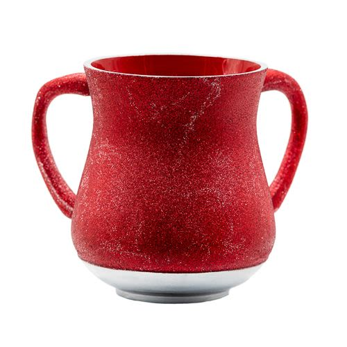 Aluminum Hand Washing Cup - Burgundy Tones with Sparkles