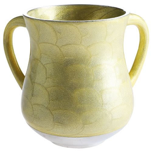 Aluminum Hand Washing Cup - Golden Tones with Sparkles