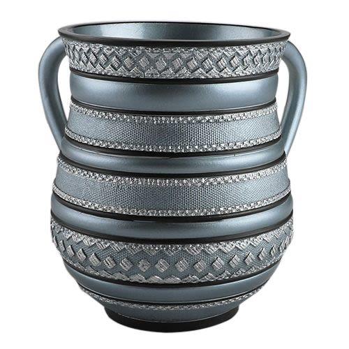 Netilat Jadaim Wasserbehälter aus silbernen Polyurethan
