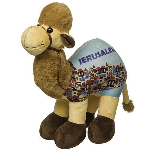 "Stuffed Cloth Camel with ""I Love Israel"" on Side"