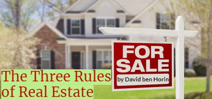 The Three Rules of Real Estate