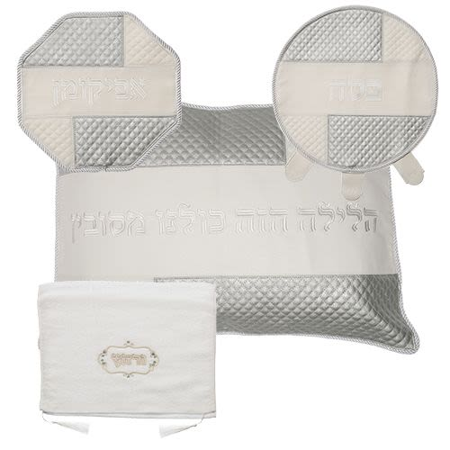 Passover Matzah Cover in Four Parts in Imitation Leather