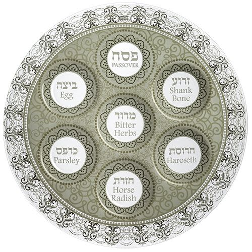 Passover Plate in Clear Glass