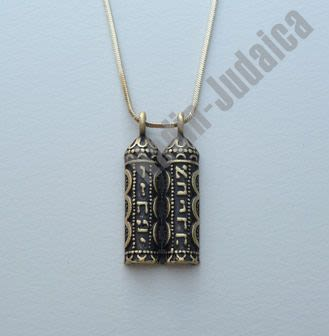 "Necklace with ""Ten Commandments"" Pendant"