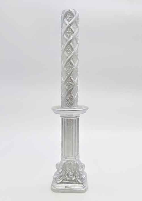 Havdalah Candle - Silver Color