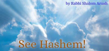 See Hashem!