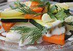 ירקות מאודים בתיבול עדין