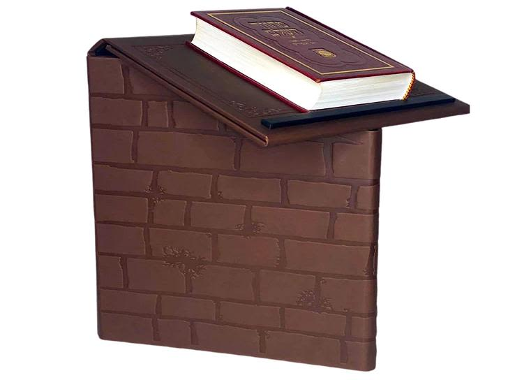 Book Stand in Deep Brown Imitation Leather