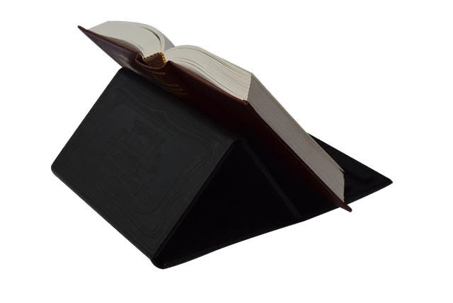 Book Stand in Black Imitation Leather - Small