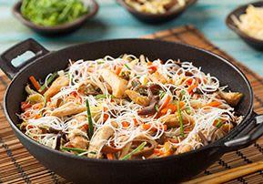 Stir-fried Vegetables on Rice Noodles