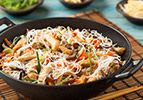 Stir-fried Vegetables on Rice Noodles