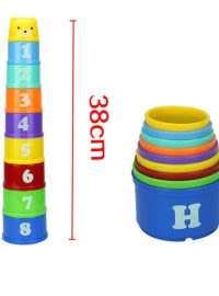"""Tower"" of Colored Cups"