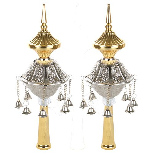 Silver and Gold Crowns for Sefer Torah