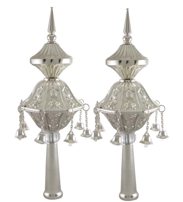 Silver Crowns for Sefer Torah