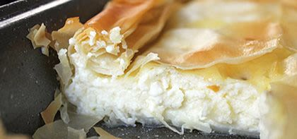 Philo Pastry and Greek Cheeses