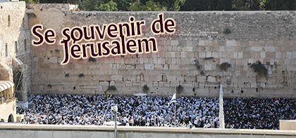 Se souvenir de Jerusalem