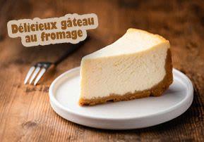 Délicieux gâteau au fromage