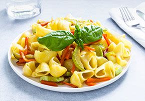 Pasta Salad with Fresh and Cooked Veggies