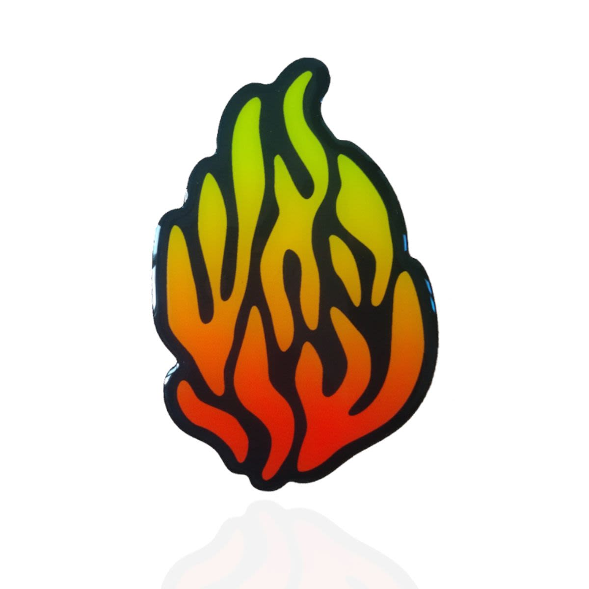 """מדבקה בולטת """"האש שלי"""" 3D על רקע שחור"""
