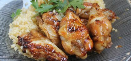 Wings Roasted in Maple and Soy