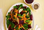Simanim Salad with Pomegranate-Balsamic Dressing