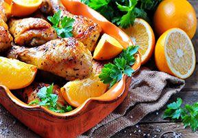 עוף בתפוזים