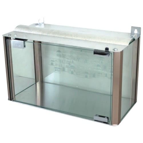 Chanukah Menorah Enclosure - Aluminum and Glass