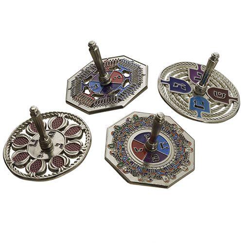 Chanukah Dreidel with Jerusalem Designs, Random Colors